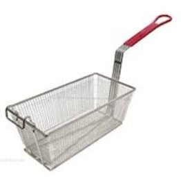 """Adcraft Fry Basket Red Handle, 12-7/8"""" x 6-1/2"""" x 5-3/8"""""""