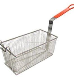 "Adcraft Fry Basket Orange Handle 12-1/8"" x 6-1/4"" x 5-5/16"""