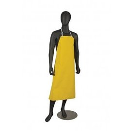 San Jamar, Inc Neoprene Dishwashing Bib Apron Yellow