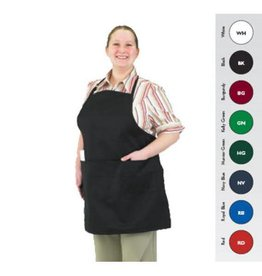 """Chef Revival Front of the house bib Apron 27"""" x 25"""" (3) compartment Burgundy"""