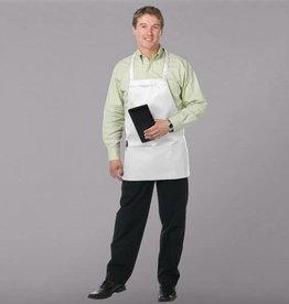 Chef Revival Chef Revival 612BAFH-WH Bib Apron 3 Pockets White