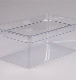 "Cambro Camwear Cambor 18CW Clear Food Pan, full size 8"" deep, 27 qt"