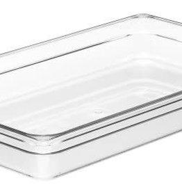 "Cambro Camwear Cambro 12CW Clear Food Pan, full size 2.5"" deep, 8.9 qt"