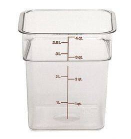 Cambro - CamSquare Cambro 4SFSCW135 Food Storage Container 4 Quart Square Clear