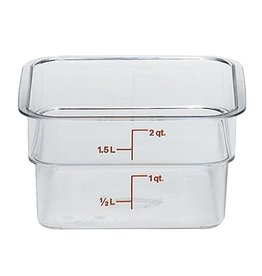 Cambro - CamSquare Cambro 2SFSCW135 Food Storage Container 2 Quart Square Clear
