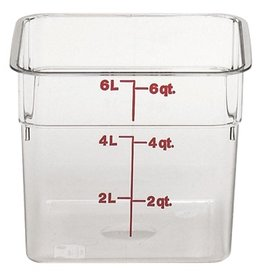 Cambro - CamSquare Cambro 6SFSCW Food Storage Container, 6 Quart, Square Clear