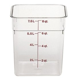 Cambro - CamSquare Cambro 8SFSCW Food Storage Container 8 Quart Square Clear