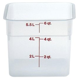 Cambro - CamSquare Cambro 6SFSPP190 Food Storage Container 6 Quart Square Translucent