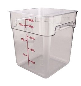 Cambro - CamSquare Cambro 18SFSCW Food Storage Container 18 Quart Square Clear