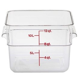 Cambro - CamSquare Cambro 12SFSCW Food Storage Container 12 Quart Square Clear