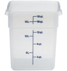 Cambro - CamSquare Cambro 18SFSPP Food Storage Container 18 Quart Square Translucent