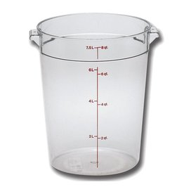 Cambro Camwear Cambro RFSCW8 Clear 8 qt Round Food Container