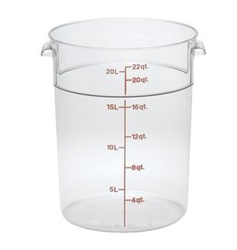 Cambro Camwear Cambro RFSCW22 Clear 22 qt Round Food Container