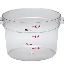 Cambro Camwear Cambro RFSCW12 Clear 12 qt Round Food Container