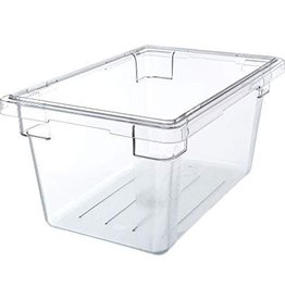 "Cambro Camwear Cambro 12189CW Food Box 12"" x 18"" x 9"" Clear 4.75 Gallon"