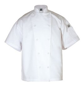 Chef Revival Chef Revival J005-S White Chef Coat Double Breasted  Small Short Sleeve