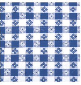 "Winco Winco TBCO-90B Table Cloth, 52"" x 90"", Blue Checker vinyl"