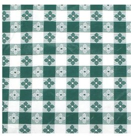 "Winco Winco TBCS-52G Table Cloth, 52"" x 52"",  Green Checker vinyl"