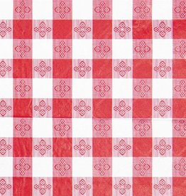 "Winco Winco TBCS-52R Table Cloth, 52"" x 52"",  Red Checker vinyl"