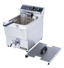 Adcraft Electric Countertop Fryer with facuet , Single Tank 208V