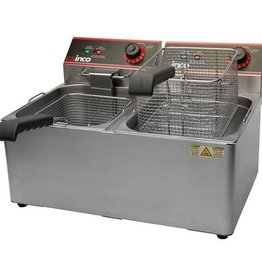 Winco Electric Countertop Fryer Double Wells 120V