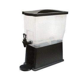 Winco Slim 3 Gallon Beverage Dispenser Black