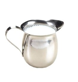 Tablecraft Bell Creamer 8 oz, Stainless Steel