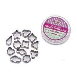 Winco Cookie Cutter Set, 12 Pieces Stainless Steel