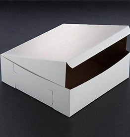 "Newell Paper White Cake Box / Bakery Box 10"" x 10"" x 4"" - Sold Each"