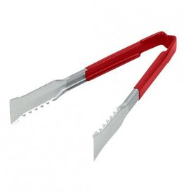 "Vollrath - Jacob's Pride Vollrath 4790940 Red 9"" Tong Stainless Steel Versagrip"