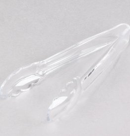 "Cambro Cambro 9TGS135 Lugano 9"" Clear Scallop Grip Plastic Tong"