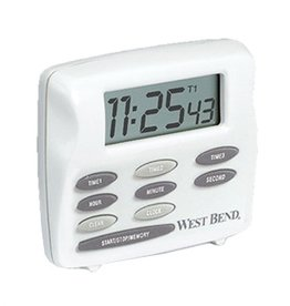 Focus Food West Bend 40053 Three Channel Electronic Digital Timer LCD Display