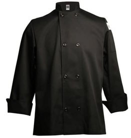 Chef Revival Chef Revival J061-S Black Chef Jacket Double Breasted Small Long Sleeve