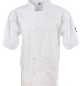 Chef Revival Chef Revival J105-M Basic White Chef Jacket Double Breasted Medium Short Sleeve
