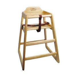 Winco High Chair, Natural Wood