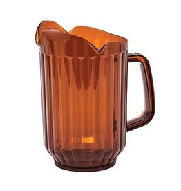 Winco Water Pitcher, 60 oz Amber 3 spout