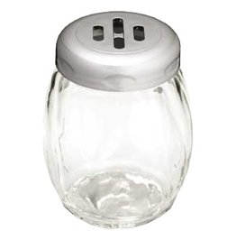 Tablecraft Cheese Shaker 6 oz Swirled Glass Slotted Top