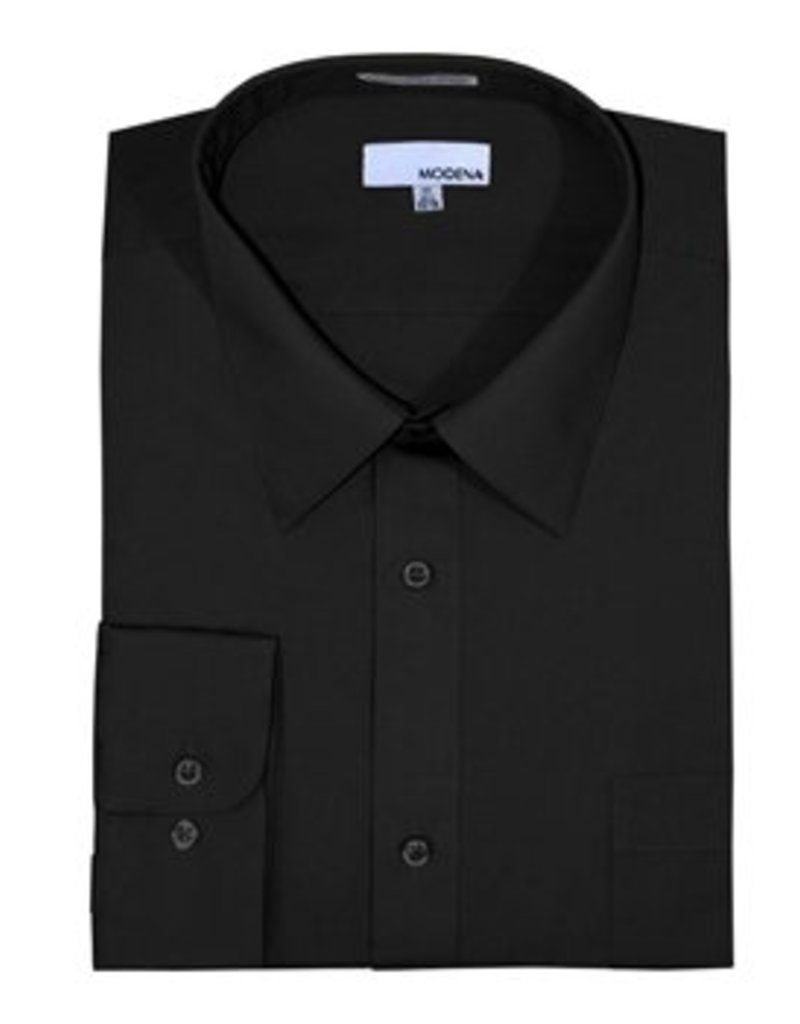 Modena Stout Dress Shirt Black