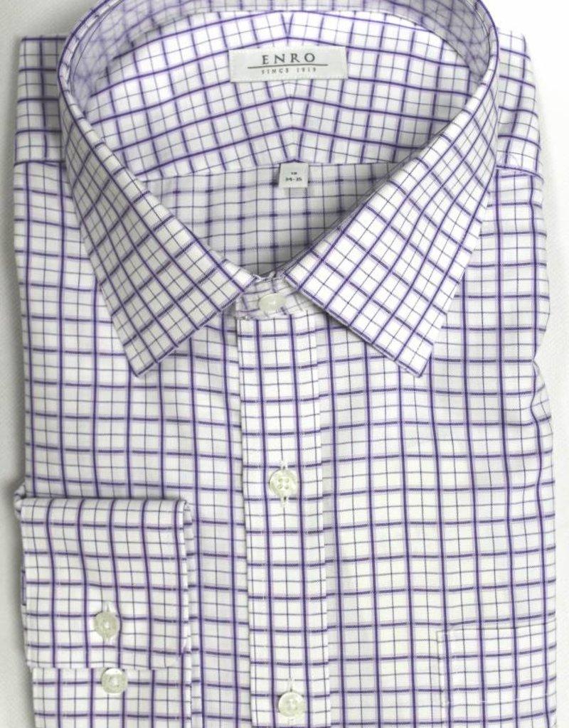 Enro Enro Crestwood Check Purple Spread Collar Shirt