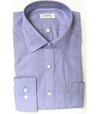 Enro Enro Mayfair check Blue Spread CollarBig & Tall Shirt