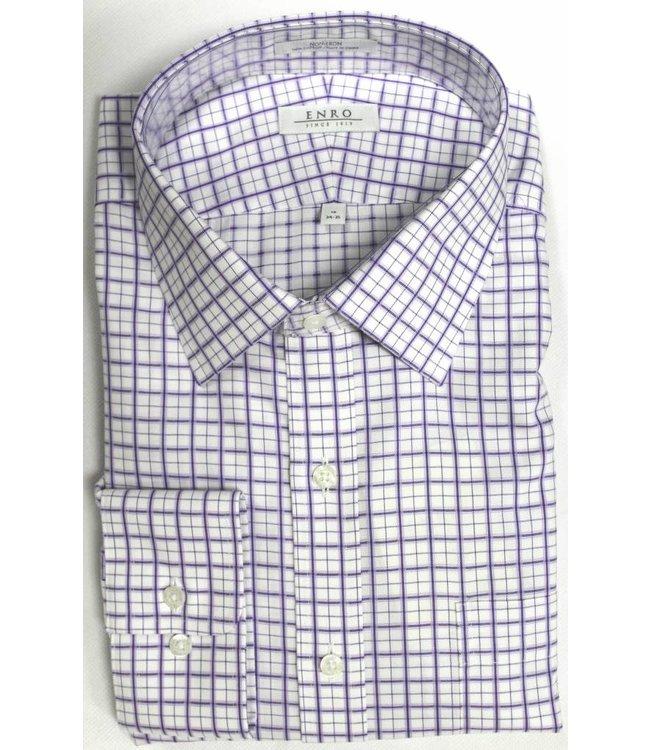 Enro Enro Crestwood Check Purple Spread Collar Big & Tall Shirt