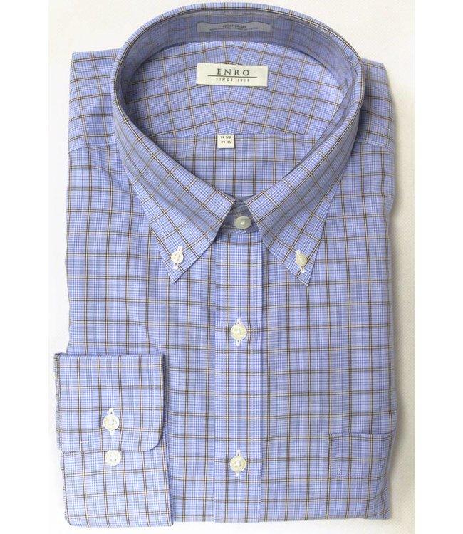 Enro Enro Knox Hill Check BlueButton Down Big & Tall Shirt