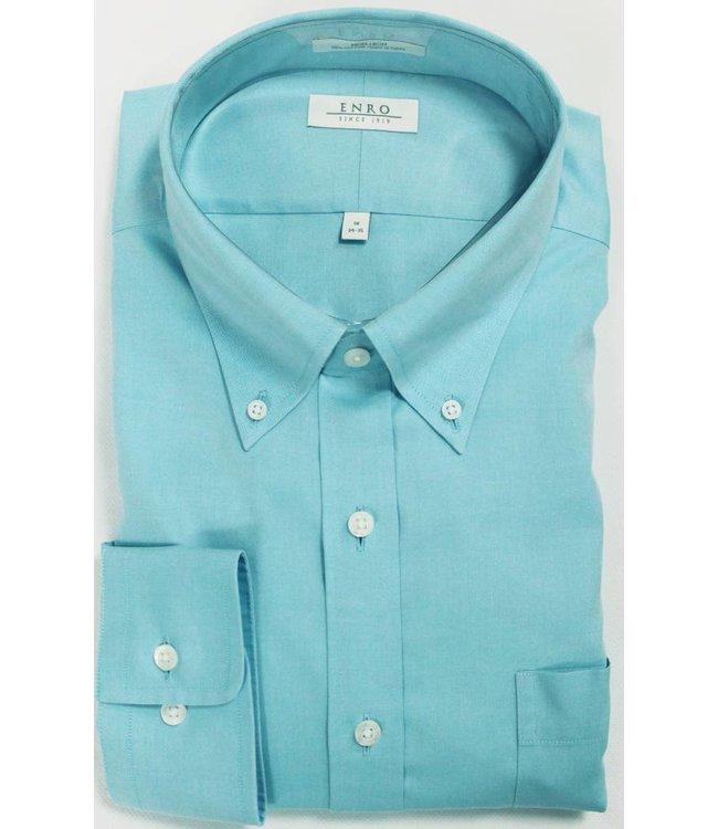 Enro Enro Newton Pinpoint Aqua Button Down Big & Tall Shirt