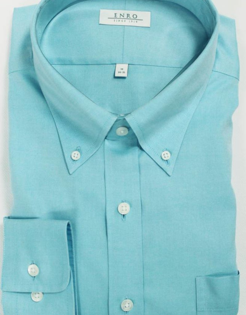 Enro Enro Newton Pinpoint Aqua Button Down Big & Tall Shirt