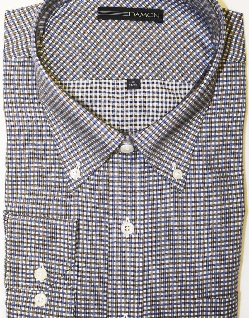 Damon Damon Chula Vista Check Brown Button Down Shirt