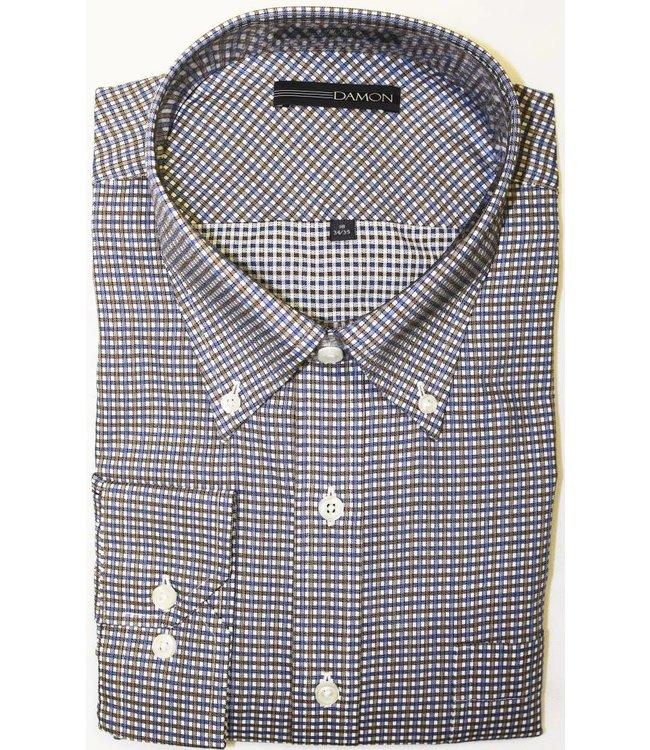 Damon Damon Chula Vista Check Brown Button Down Big & Tall Shirt