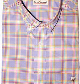 Cotton Brothers Cotton Brothers Med Blue Plaid Full Sleeve