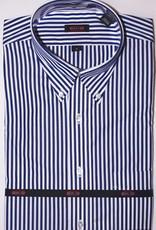 Overton Overton Royal Blue Stripe Full Sleeve
