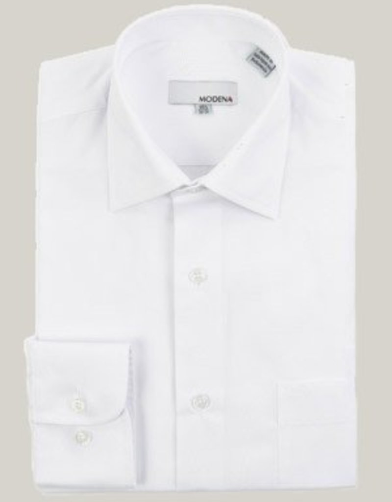 Modena Stout Dress Shirt White