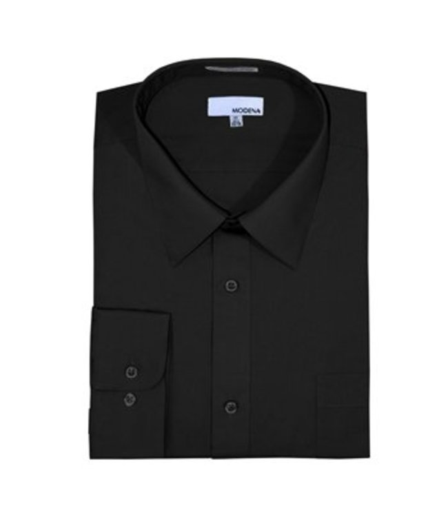 Modena Contemporary Fit Dress Shirt Black